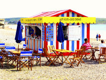 Beach Cafe' Weymouth, Dorset Royalty Free Stock Photography