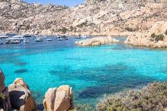Spiaggia di Cala Coticcio, Sardegna, Italy. Beach of Cala Coticcio on Caprera island, Sardinia, Italy royalty free stock photos