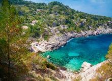 The beach Cala de Deia Stock Photography