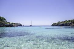 Beach of Cala en Turqueta, Menorca, Balearic Islands, Spain. Royalty Free Stock Photography