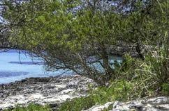 Beach of Cala en Turqueta, Menorca, Balearic Islands, Spain. Stock Photos