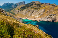 The beach Cala Figuera Stock Images