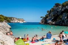 Beach, Cala Macarelleta Stock Photos