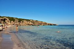 Vendicari nature reserve siracusa. Beach cala mosche in one of the most beautiful beaches of Sicily, in the Vendicari Natural Reserve syracuse italy stock photos