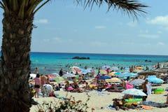 Beach of Cala Rajada. Mallorca, Spain stock photo