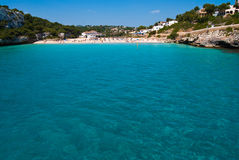 The beach of Cala Romantica, Majorca, Spain Stock Images