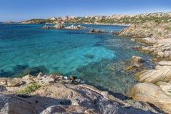 Beach of Cala Trinità in La Maddalena island, Sardinia, Italy Stock Photography
