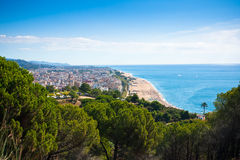 Beach of Calella, Costa Brava, Catalonia, Spain Royalty Free Stock Image
