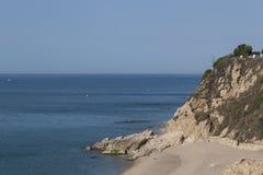 The beach of Calella stock photos