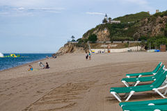 Beach at Calella Stock Images