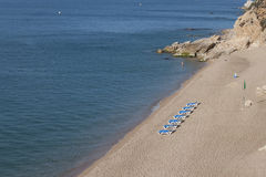 The beach of Calella royalty free stock images