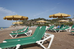 The beach of Calella royalty free stock image