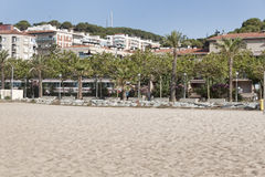 The beach of Calella Royalty Free Stock Photos