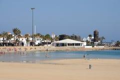 Beach in Caleta de Fuste, Fuerteventura Royalty Free Stock Photography