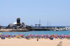 Beach of Caleta de Fuste, Fuerteventura, Spain Stock Photo