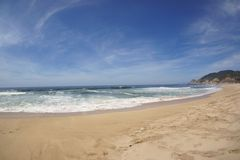 Beach California. A beach in California with waves rolling in Royalty Free Stock Images