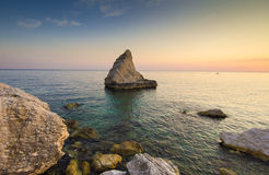 The beach called La Vela on the adriatic sea, Marche Royalty Free Stock Images