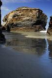Beach called Praia das Catedrais in the north coast of Spain, Lu Stock Photos
