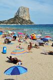 Beach of Calpe in July Royalty Free Stock Photos