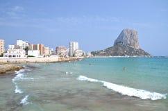 Beach in Calpe, Spain Royalty Free Stock Image