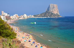 Beach in Calpe, Spain Royalty Free Stock Photos