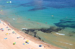 Beach in Calpe, Spain Stock Photography