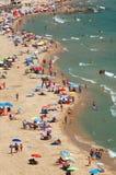 Beach in Calpe, Spain Stock Image