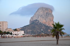 Beach in Calpe, Spain Stock Images