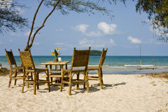 Beach in Cambodia Stock Photo