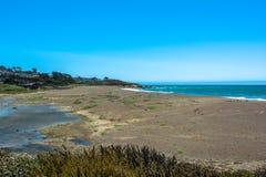 The beach of Cambria, California Stock Photography