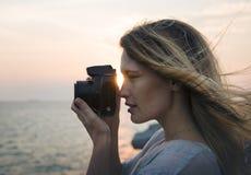 Beach, Camera, Freedom, Girl, Hobby Stock Photos