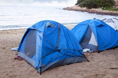 Beach Camping Royalty Free Stock Photo