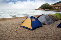 Beach Camping Royalty Free Stock Image