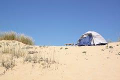 Beach camping Stock Photo