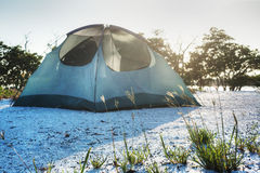 Beach Camping. In the Everglades on the Ten Thousand Islands Royalty Free Stock Photography