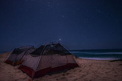 Beach Camping Stock Photography