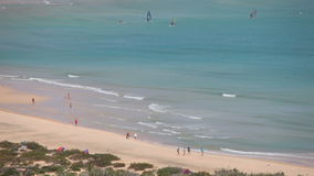 Beach on Canary Island Fuerteventura stock video