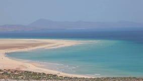 Beach on Canary Island Fuerteventura stock video footage