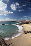 Beach on Canary Island Lanzarote Stock Photography