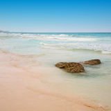 Beach at Cancun, Mexico Royalty Free Stock Images