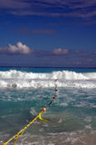 Beach Cancun / Mexico. White sandy beach with blue sky in mexico Stock Photo