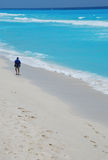 Beach in cancun mexico Royalty Free Stock Photography