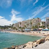 Beach in Cannes Royalty Free Stock Photos