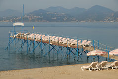 Beach in Cannes, France Royalty Free Stock Photo