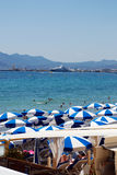 The beach in Cannes Stock Photography