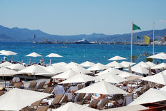 The beach in Cannes Stock Images