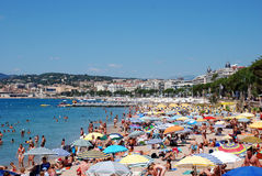 The beach in Cannes Stock Image