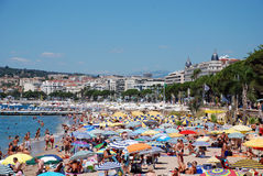 The beach in Cannes Royalty Free Stock Photo
