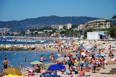 The beach in Cannes Royalty Free Stock Image
