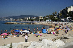 Beach of Cannes Stock Images